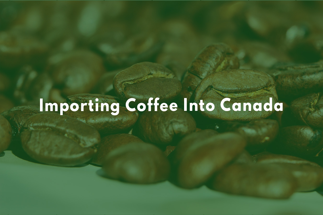 Importing Coffee Into Canada