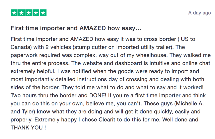 customs broker review